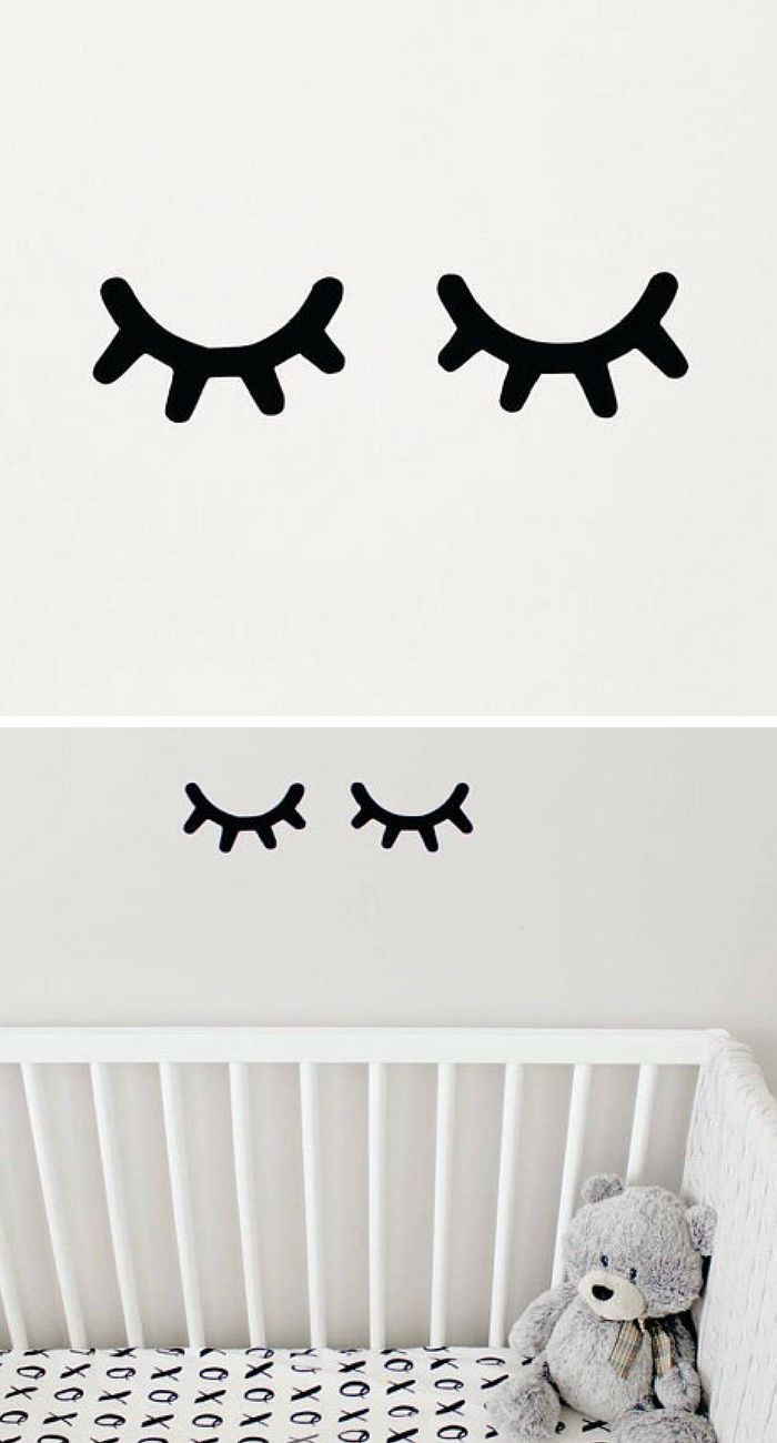 Sleepy Eyes Decals...look so cute on the wall next to a girls bed!  #ad #affiliatelink