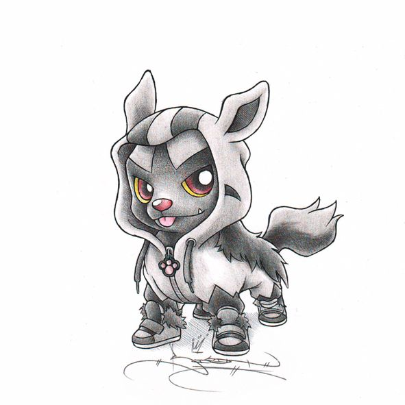 poochyena in mightyena onesie