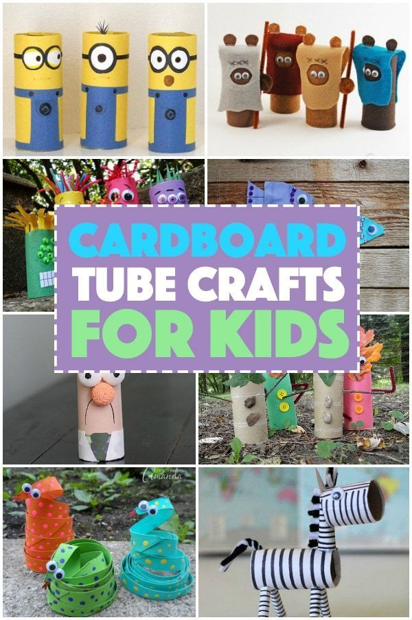 Looking For A Fun Craft Made From Recycled Materials To Keep Your Child Busy This Summer These Card Cardboard Tube Crafts Crafts For Kids Recycled Crafts Kids