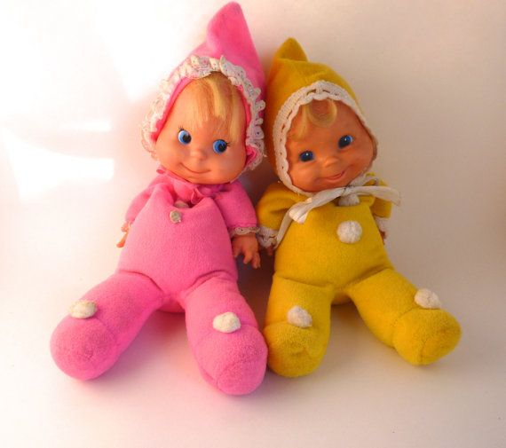 Baby Beans Doll Pair 1970s by BonniesVintageAttic on Etsy, $45.00