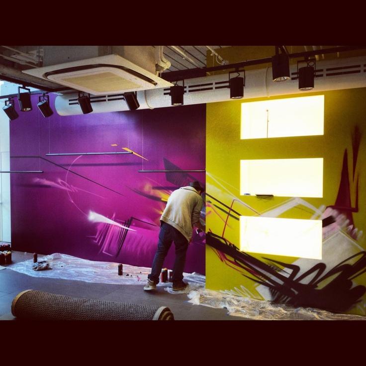 Client DKNY Bond Street London Shop Interior Graffiti Design Abstract