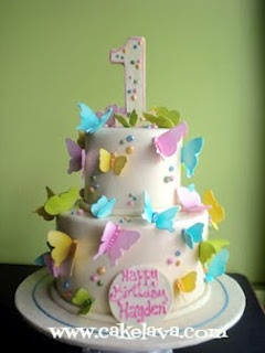 1st birthday butterfly cake  - my babys cake will look kinda like this