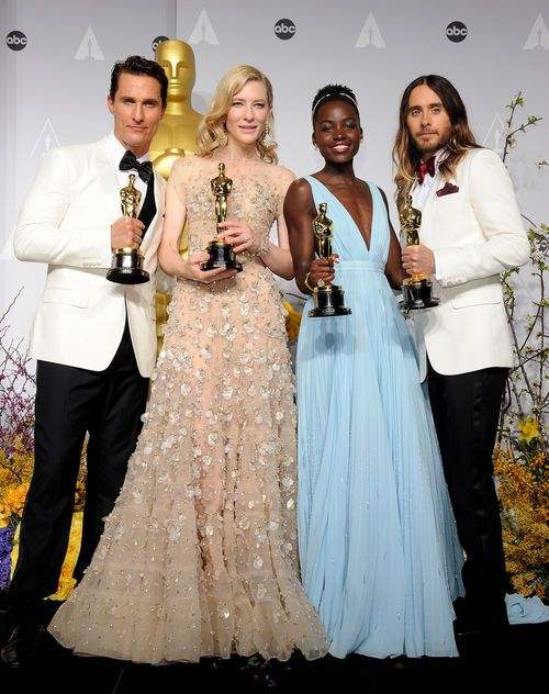 Oscar winners Matthew McConaughey, Cate Blanchett, Lupita Nyong'o, Jared Leto at 86th Academy Award.