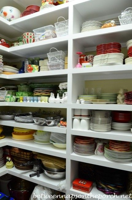 Dish Pantry-Storage for China. A pantry just for all those great dishes would be so cool!