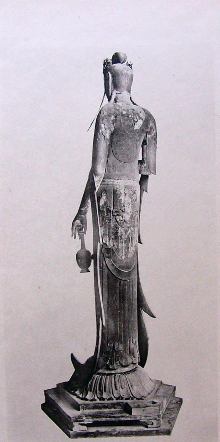 奈良法隆寺的國寶--百済観音像背面