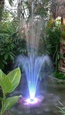 60 LED Lighted Water Fountain  1000 GPH  Red/Blue/White Color Changing. A  1000Garden PondsThe ...