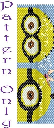 Yellow Minions SINGLE Drop Peyote - Pattern ONLY - A Krafty Max Design | KraftyMax - Jewelry on ArtFire