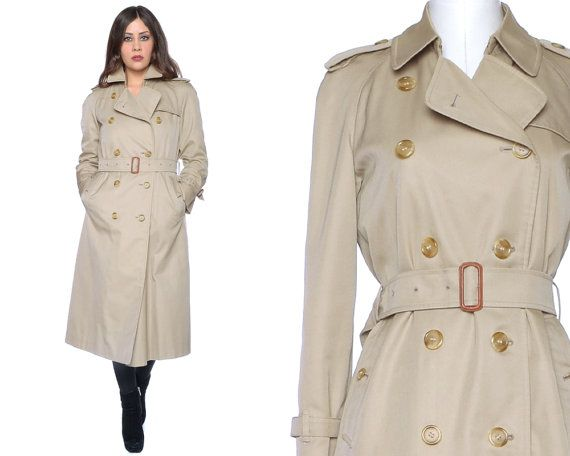 Vintage Burberry's Trench Coat 80s Raincoat by GravelGhostVintage