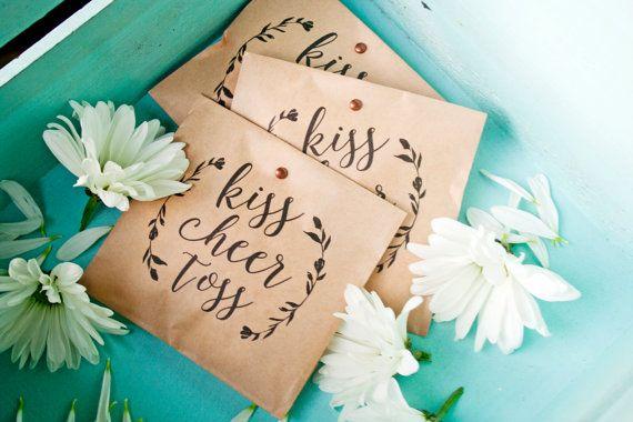 Wedding Petal Toss Bag  Kraft Paper Favor Bags  Petals by mavora