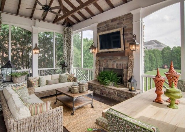 Loads of tips for how to create an inviting outdoor space. If you are fortunate enough to have an outdoor fireplace, make sure to arrange the furniture to take advantage of this great focal point.