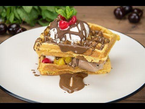 Waffle with ice cream - Βάφλες με παγωτό