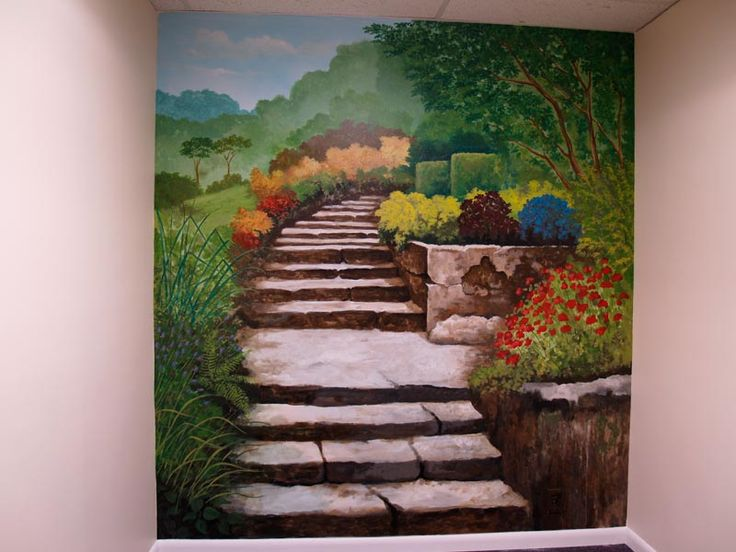 Garden Wall Mural Made For A Doctor Office. | Commercial Murals U0026  Decorative Projects | Pinterest | Doctor Office, Wall Murals And Commercial