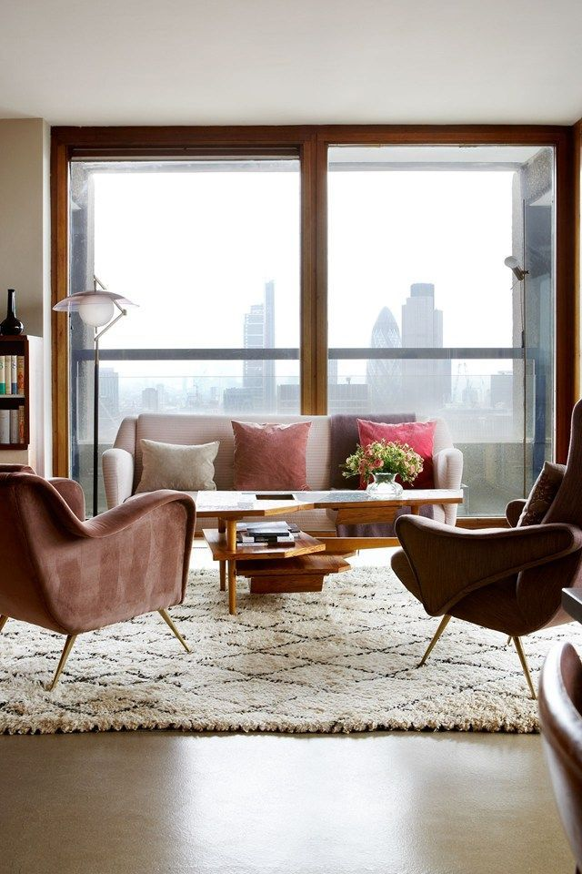 Barbican Flat by Maria Speake of Retrouvius - Mid Century Design (houseandgarden.co.uk)
