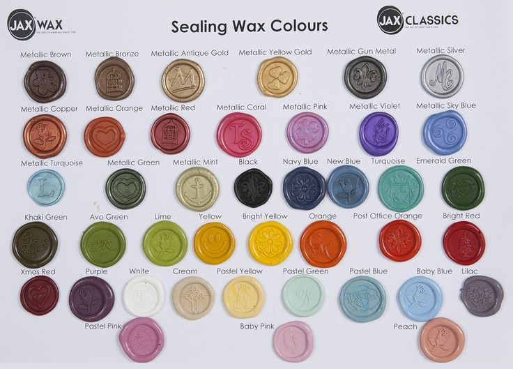 Colour Charts and Swatches | Jax Wax