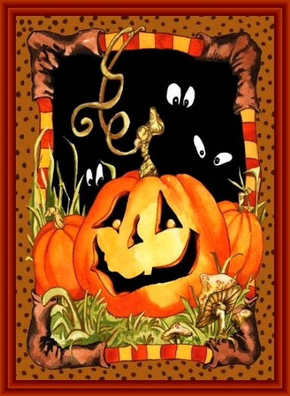143 best ღ Art ~ Halloween- Fall Illustrations ღ images on ...