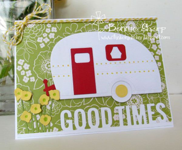 Good Times Colour Challenge! --seems like it would work great for a handmade Project Life filler card! PL Camping Trailer Camper Card