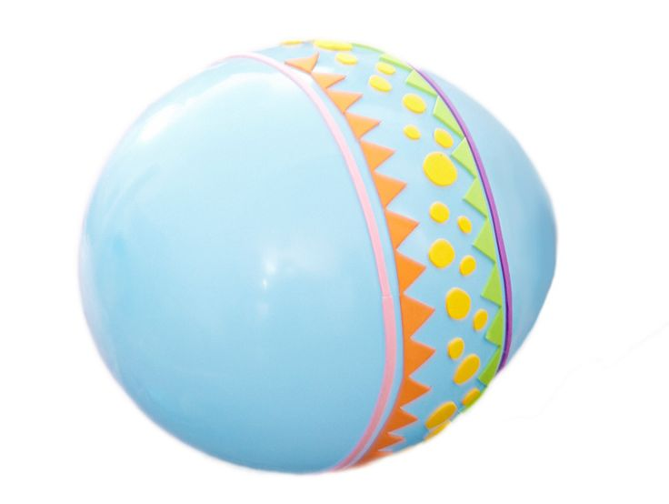 decorate helium-filled balloons with stick-back craft foam to create extra-large #Easter eggs #DIY