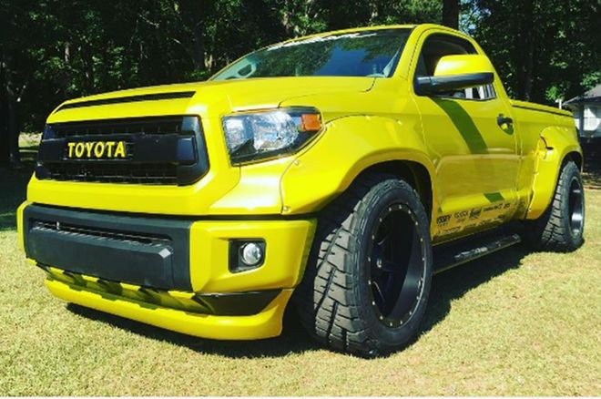 Custom Toyota Tundra Gets Wide and Bright for Hot Rod Power Tour - Motor Trend