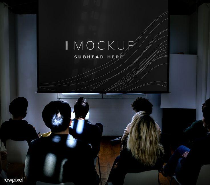 Download Premium Psd Of Projector Screen Mockup In A Conference 502865 Projector Screen Projector Projection Screen