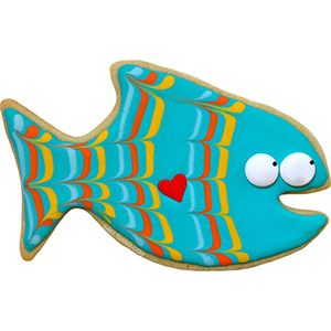 Smiling fish! Cookie cutter by Sweet Dani B and CopperGifts