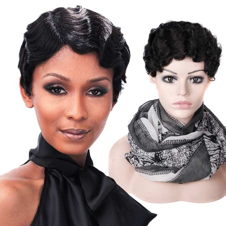 Kurze Perücken für Schwarze Frauen Synthetische Perücke Afroamerikaner Kurze perücken Schwarz Günstige Perücke für Frauen Verkauf Hitzebeständigem Gefälschte haar