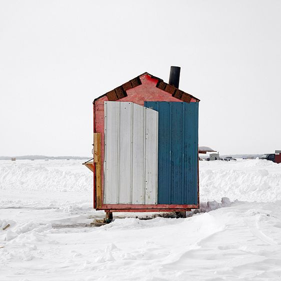 Ice Huts  by Richard Johnson
