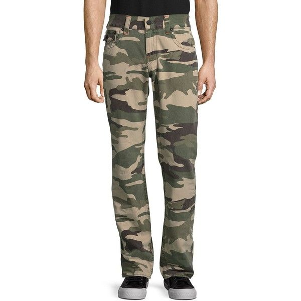 True Religion Camouflage Cotton Pants (6,430 INR) ❤ liked on Polyvore featuring men's fashion, men's clothing, men's pants, men's casual pants, mens camouflage pants, mens cotton pants, men's 5 pocket pants, mens camo pants and mens pants