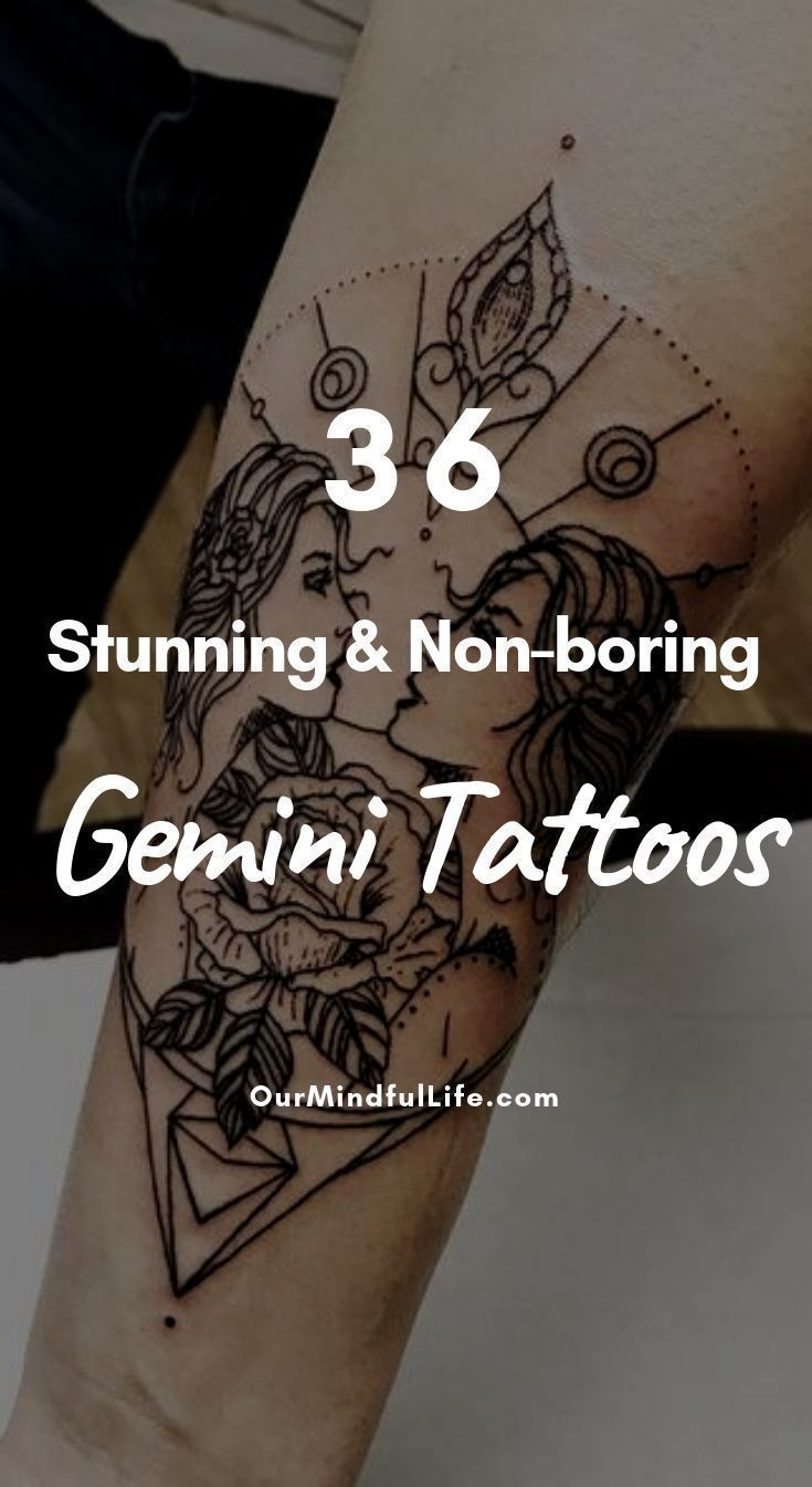 36 Stunning And Non Boring Gemini Tattoos Tattoo Body Art