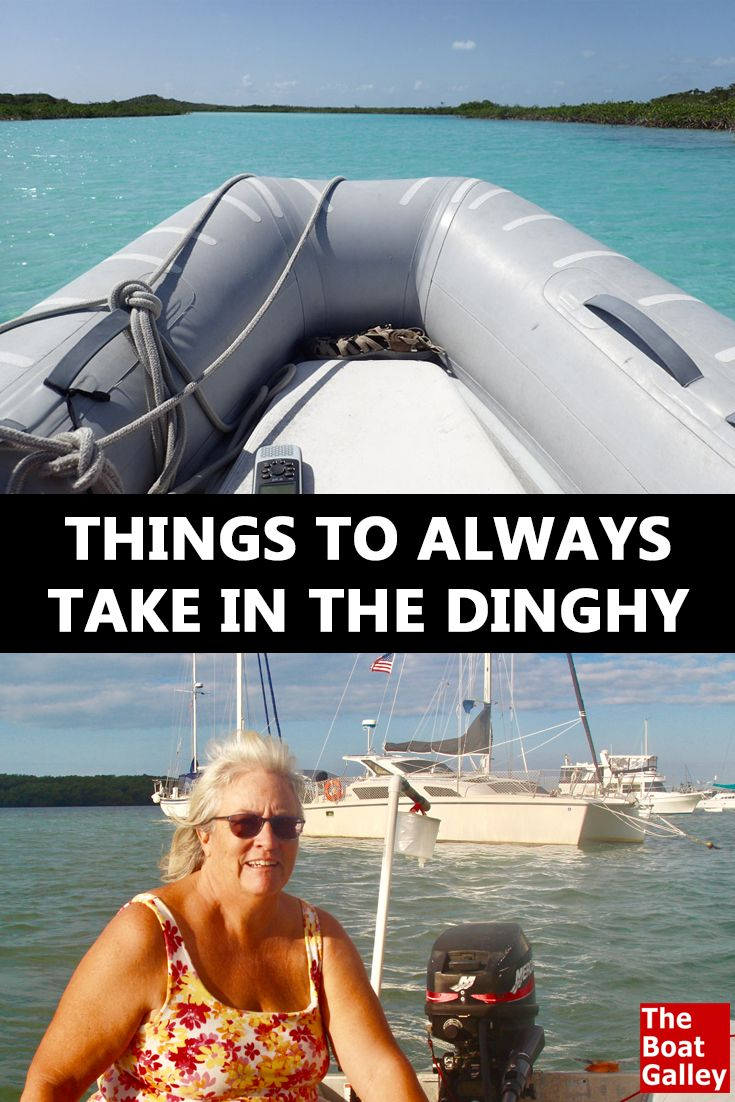 Stay safe when exploring by dinghy. Legal requirements are a bare minimum . . . here's what else we carry!
