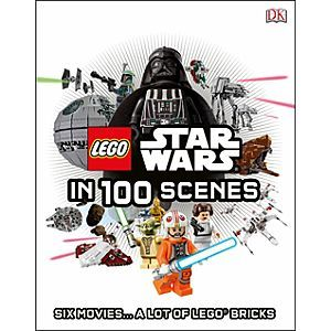 Star Wars LEGO In 100 Scenes Book | Disney Store This fun book retells all six <i>Star Wars</i> films in 100 iconic scenes using LEGO Star Wars sets and minifigures. Relive the amazing <i>Star Wars</i> adventure in brick form with this humorous retelling of the complete saga.