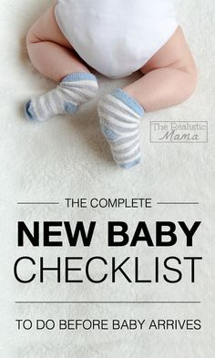 COMPLETE NEW BABY CHECKLIST - 9 things to do before baby arrives!
