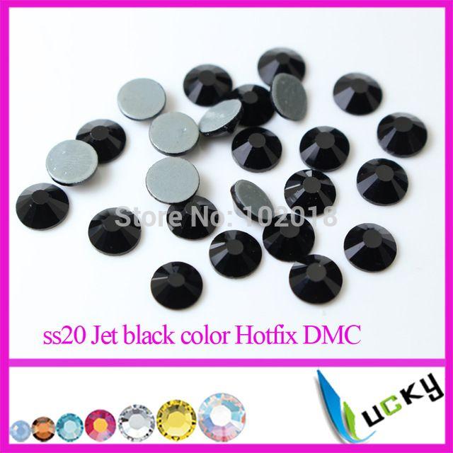 Высокое качество исправления горный хрусталь! Ss6 ss10 ss16 ss20 ss30 Jet черный цвет кристалл железа стразовая плоской задней стразами супер блеск
