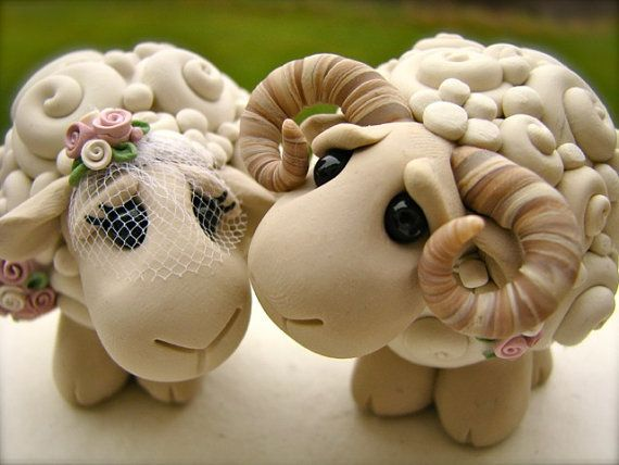 I Love Ewe Custom Keepsake Wedding Cake Topper handmade