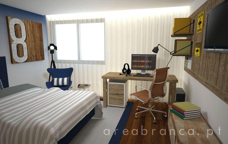 Quarto Adolescente #Areabranca #DesignInteriores #InteriorDesign #Bedroom #Decor #Modern #wood