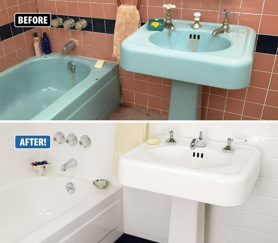 Wow Check out this amazing dramatic transformation This bathroom was in some serious need of