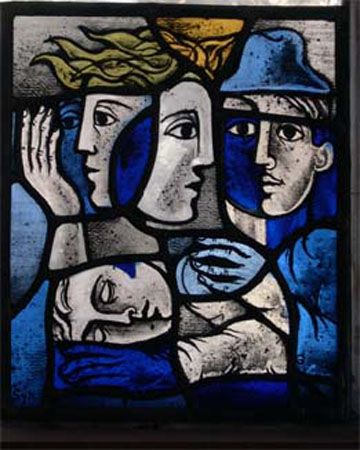 Stained glass window by Sylvia Nicolas - plenty more on click through