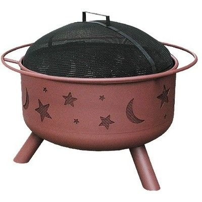 Fire Bowl: Landmann Big Sky Stars and Moon Fire Pit featuring polyvore home outdoors fire bowl georgia clay grills & fireplaces outdoor fireplaces patio & outdoor decor patio fire pits outside fire pit outdoor fire pit wood burning fire pit outdoor wood burning fire pit