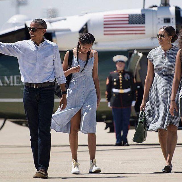 Летние платья, как у первых леди Америки Мишель и Малия Обама нашли идеальную одежду для официальных визитов в…