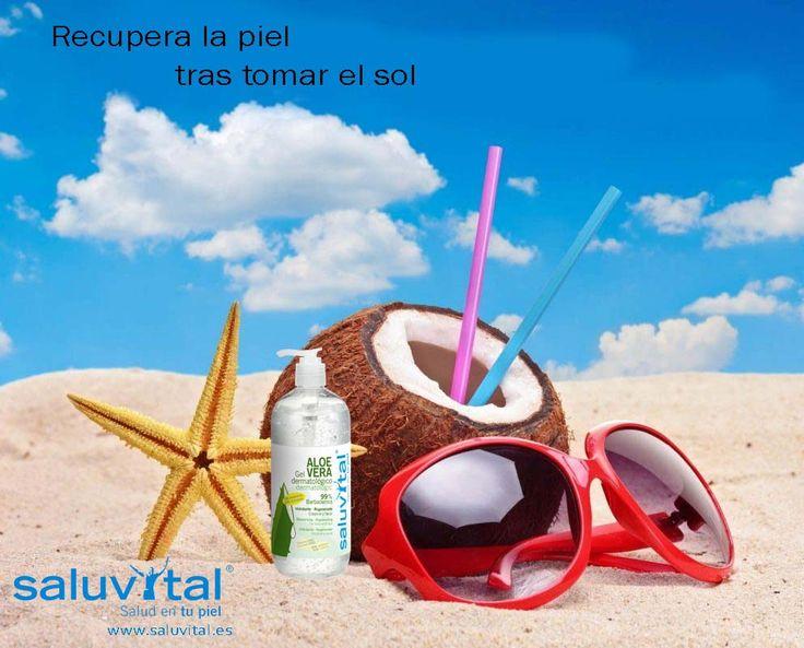 ¡Buenos días! Hoy en nuestro blog hablamos de un gran aliado para recuperar la piel después de la exposición solar, Gel Dermatológico Aloe Vera Saluvital.  ¡No te olvides de llevarlo en tu bolsa de playa o piscina!