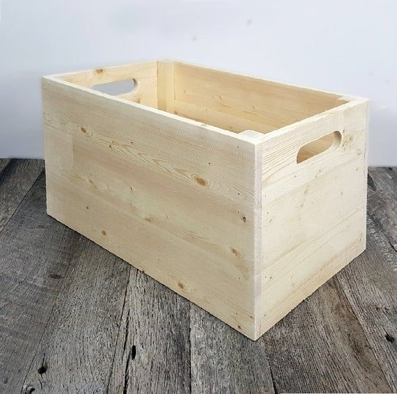 Unfinished Wooden Storage Box Stackable Tidying Up Cube Dorm Furniture School Photography Prop Vinyl Lp Album Storage Wooden Storage Wooden Storage Boxes Crate Storage