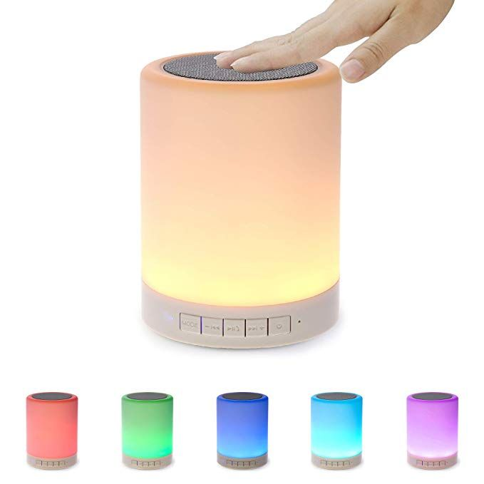 Night Light Bluetooth Speaker Portable Wireless Bluetooth Speakers Touch Control Color Led Speaker Bedside Table Light Speakerphone Tf Card Aux In Supporte Wireless Speakers Bluetooth Bluetooth Speakers Portable Bluetooth Speakers