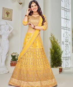 Buy Ayesha Takia Yellow Net Wedding Lehenga Choli 73186 online at best price from vast collection of Lehenga Choli and Chaniya Choli at Indianclothstore.com.