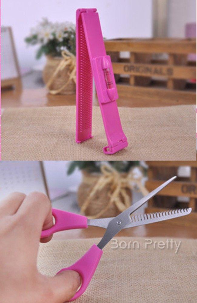 $7.48 2Pcs Fringe Bang Cut Scissors Clipper Comb Guide For Pretty Hair Styles Makeup Tool - BornPrettyStore.com