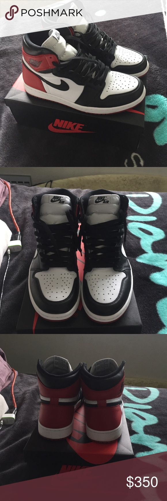 Air Jordan 1 retro black toe I've worn these twice but I sell sneakers so that's why these up for grabs Jordan Shoes Athletic Shoes