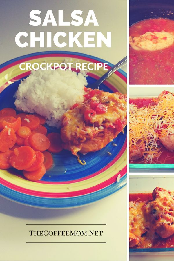 Crock-pot salsa chicken is a simple dish that the whole family will enjoy.