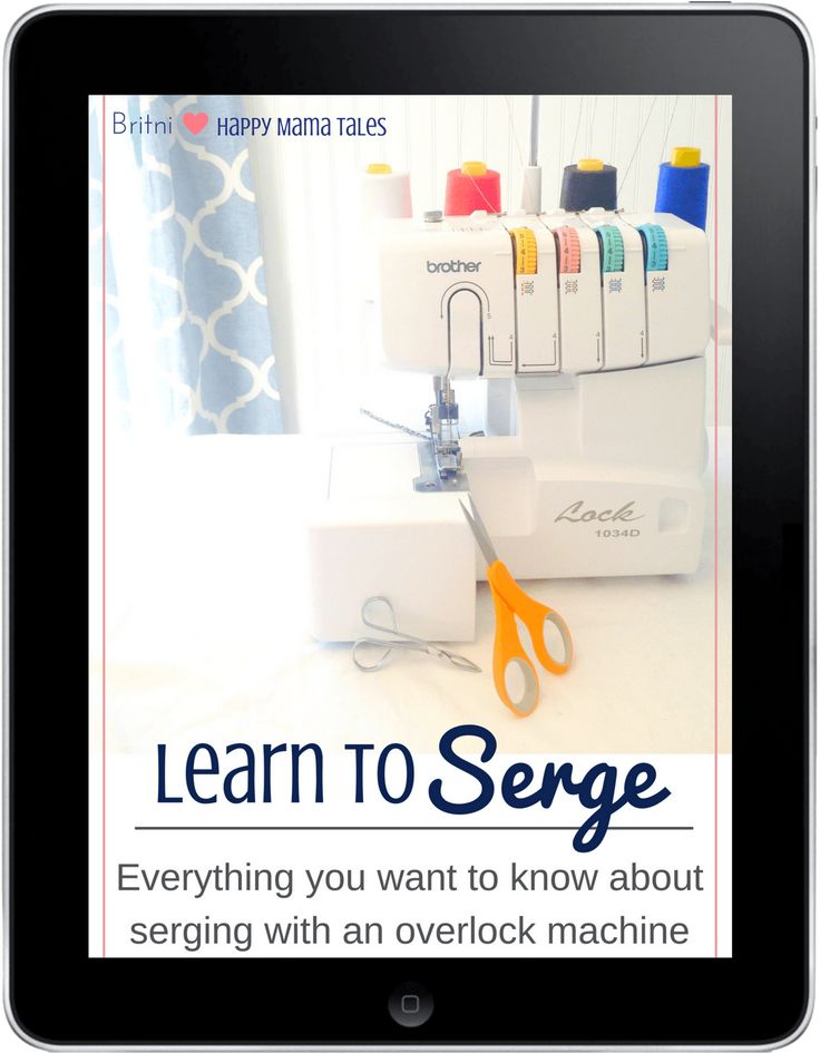 Learn to Serge ebook series. 12 comprehensive lessons to teach you all about serging with your overlock machine! You'll be an expert DIY serger by the time you are done with the lessons. And the coolest part is you can take each serging lesson at your own pace, and refer to it as many times as you want, because of it's easy ebook format!
