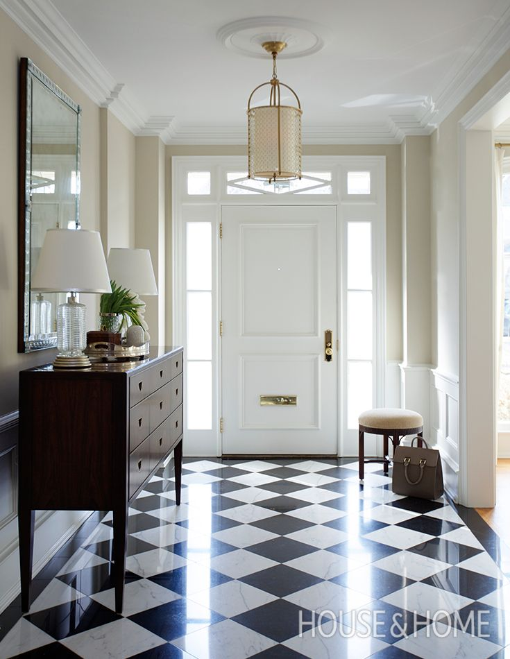 Traditional Home Foyer Decor : Images about checkerboard tile pattern on pinterest