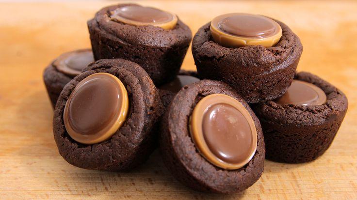Toffifee Brownie Bites Rezept als Back-Video zum selber machen! Ganz einfach Schritt für Schritt erklärt!
