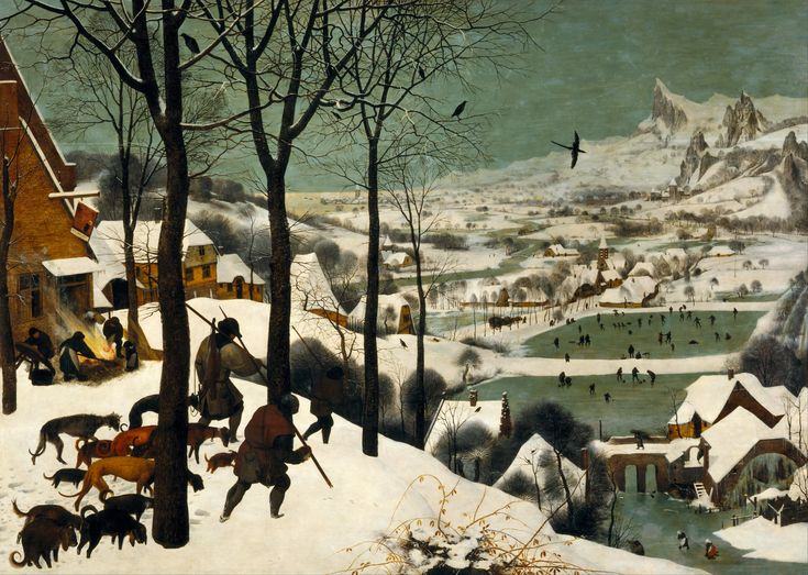 Pieter Bruegel the Elder, Hunters in the Snow, Flemish, Mid 16th Century.