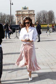 Look para lucir falda larga
